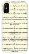 The 10 Commandments  For Pets  Antique Marble IPhone Case