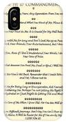 The 10 Commandments For Pets On Old Parchment IPhone Case