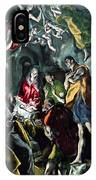 The Adoration Of The Shepherds From The Santo Domingo El Antiguo Altarpiece IPhone Case