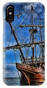 The Approaching Storm - Spanish Galleon IPhone Case