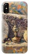 The Armenian Still-life With A Fragment Cross - Stone  Armenian Khachqar IPhone Case