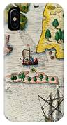 The Arrival Of The English In Virginia IPhone Case