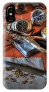 The Art Of The Timepiece - Watchmaker  IPhone Case