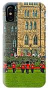 The Band Played On In Front Of Parliament Building In Ottawa-on IPhone Case