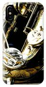 The Baritone Saxophone  IPhone Case
