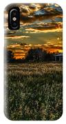 The Barn At Sunset IPhone Case
