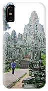 The Bayon In Angkor Thom In Angkor Wat Archeological Park-cambodia IPhone Case