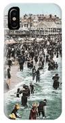The Beach At Atlantic City 1902 IPhone Case
