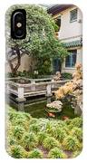 The Beautiful Courtyard Of The Pacific Asia Museum In Pasadena. IPhone Case
