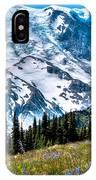 The Beautiful Mount Rainier At Sunrise Park IPhone Case
