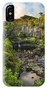 The Beautiful Scene Of The Seven Sacred Pools Of Maui. IPhone Case
