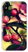 The Bee And The Blossom IPhone Case