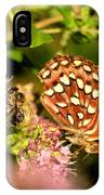 The Bee And The Butterfly IPhone Case