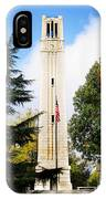 The Belltower At Nc State University IPhone Case