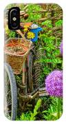 The Bike In The Garden IPhone Case