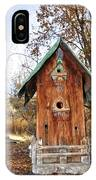 The Birdhouse Kingdom - Spotted Towhee IPhone Case