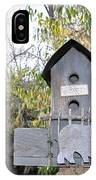 The Birdhouse Kingdom - The Loggerhead Shrike IPhone Case