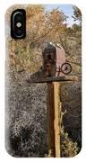 The Birdhouse Kingdom - Cowbird Home IPhone Case