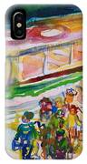The Boat Trip, 1989 Wc On Paper IPhone Case