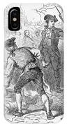 The Boston Massacre, March 5th 1770, Engraved By A. Bollett Engraving B&w Photo IPhone Case