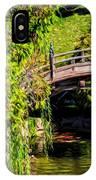 The Bridge In The Japanese Garden IPhone Case
