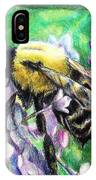 The Busy Bee And The Lilac Tree IPhone Case