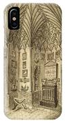 The Cabinet, Engraved By T. Morris IPhone Case
