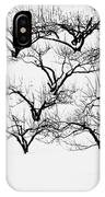 The Calligraphy Of Apple Trees In Winter IPhone Case