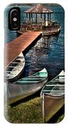 The Canoes At Big Moose Inn IPhone Case