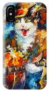 The Cat And The Guitar IPhone Case