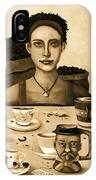 The Coffee Addict In Sepia IPhone Case