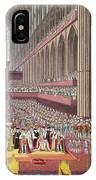 The Coronation Of King William Iv And Queen Adelaide, 1831 Colour Litho IPhone Case