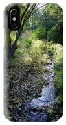 The Creek At Finch Arboretum 2 IPhone Case