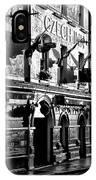 The Czech Inn - Dublin Ireland In Black And White IPhone Case