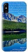 The Desiderata And Lake Sherburne IPhone Case