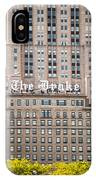 The Drake Hotel In Downtown Chicago IPhone Case