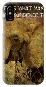 The Elephant - Inner Strength IPhone Case