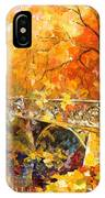 The Embassay Of Autumn - Palette Knife Oil Painting On Canvas By Leonid Afremov IPhone Case