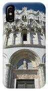 The Entrance To The Baptistery In Pisa  IPhone Case