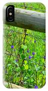 The Fence At The Meadow IPhone Case