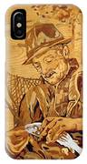 The Fisherman With The Fish IPhone Case