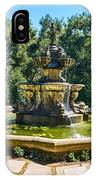 The Fountain - Iconic Fountain At The Huntington Library. IPhone Case