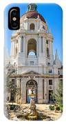 The Fountain - The Beautiful Pasadena City Hall. IPhone Case