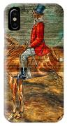 The Fox Hunt With Light Antique Store Mural Griffin Georgia Art IPhone Case