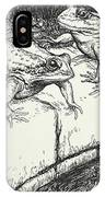 The Frogs And The Well IPhone Case