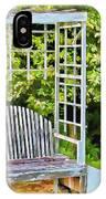 The Garden Bench In Spring  IPhone Case
