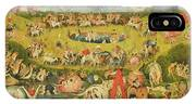 The Garden Of Earthly Delights Allegory Of Luxury, Central Panel Of Triptych, C.1500 Oil On Panel IPhone Case