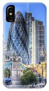 The Gherkin And Tower Bridge IPhone Case