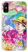 The Girl And The Lizard IPhone Case