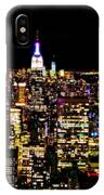 The Glow Of The New York City Skyline IPhone Case